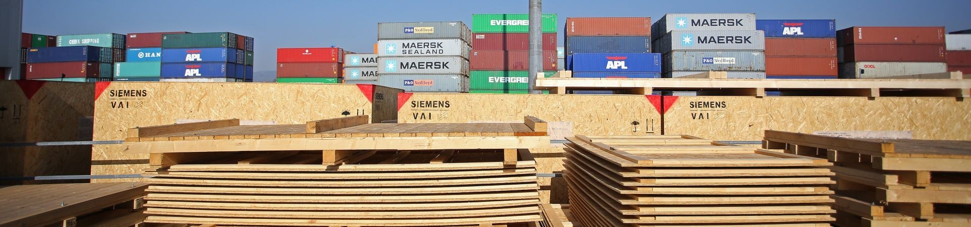 Exportverpackung aus Holz